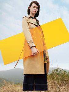 私人衣橱女装黄色双排扣风衣