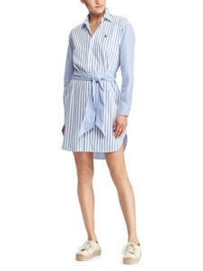 拉夫劳伦女装蓝色条纹连衣裙