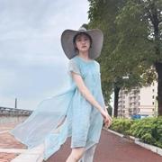 Eall.cz意澳水蓝色裙装带来清凉夏季