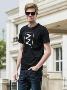 袋鼠男装18黑色T恤