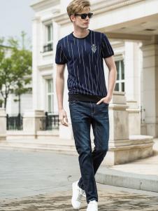 袋鼠男装18黑色时尚T恤