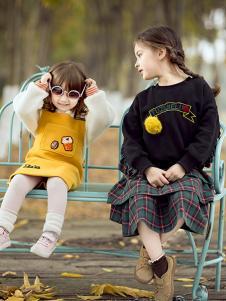 兔子杰罗童装2018秋季女童手工印花气质百搭卫衣