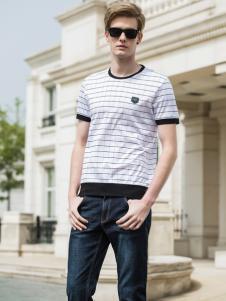 2018袋鼠男装条纹T恤