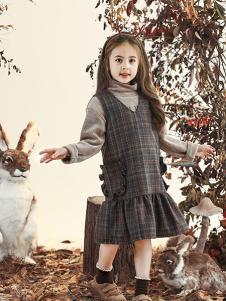 兔子杰罗童装2018秋季背带裙中大女童韩版裙子打底衫两件套