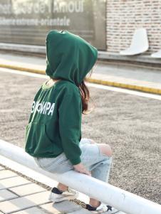 Apple Orange童装绿色卫衣18新款