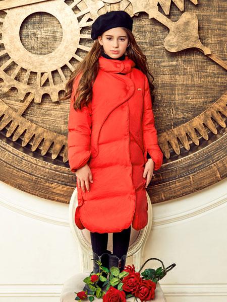 巴柯拉PCORA红色长款羽绒服