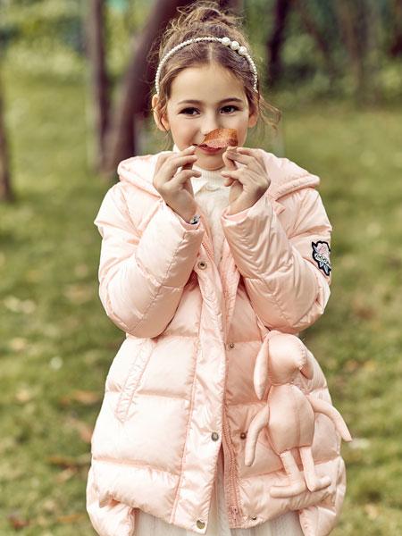 巴柯拉PCORA粉色羽绒服