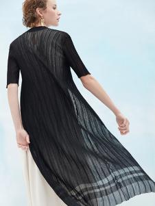 MEACHEAL女装黑色雪纺防晒衣