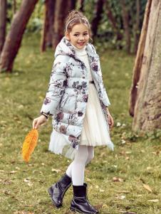 巴柯拉PCORA女童中长款羽绒服