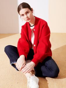 樊羽女装18红色小外套