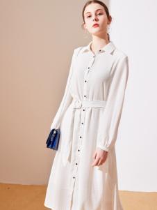 樊羽女装18白色衬衫裙