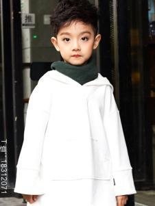 2018OJO男童白色设计师范外套