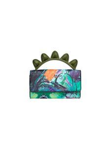 皮创文化油画系列恐龙手提包
