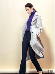 蔓露卡新款纯色休闲大衣