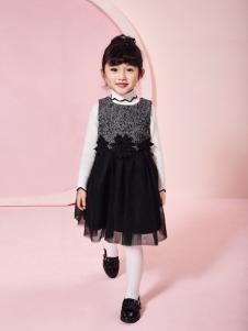 嗒嘀嗒秋冬新款黑色网纱裙