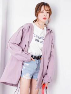 衣佰芬粉色外套