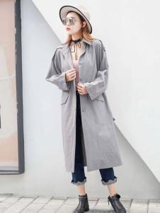 衣佰芬灰色休闲外套