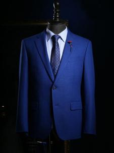 NOPAI男装深蓝色商务西装
