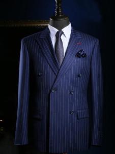 NOPAI男装藏青条纹西装