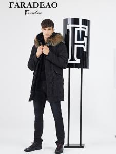 法拉狄奥男装18黑色羽绒服