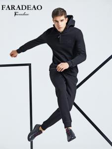 法拉狄奥男装黑色卫衣