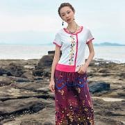 印巴文化女装,把精致印花绣在衣上