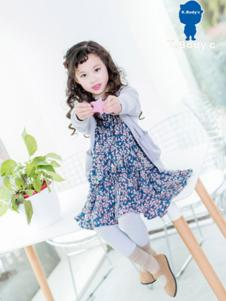 K.Body°C童装蓝色碎花连衣裙
