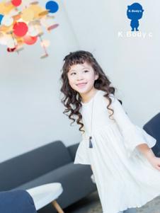K.Body°C童装白色甜美女裙