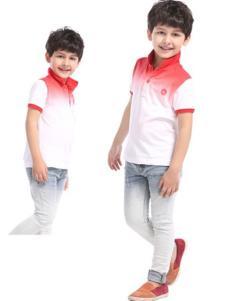 滨贝儿童装红白渐变上衣