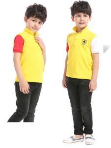 滨贝儿童装黄色短袖T恤