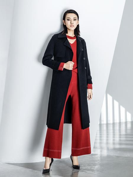 ECA女装黑色大衣18新款