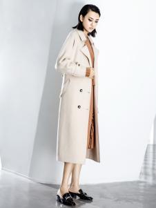 ECA女装18米色气质大衣