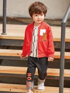 童戈童装时尚休闲简约红外套