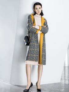 ECA女装18格子大衣