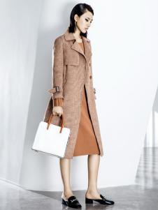 ECA女装18复古优雅大衣