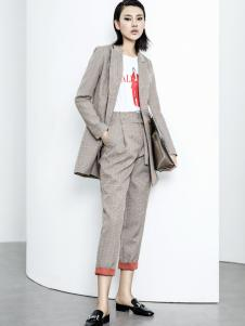 ECA女装18格子西服外套