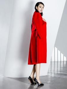 ECA女装红色大衣18新款