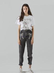 chictopia女装白色卡通动物T恤