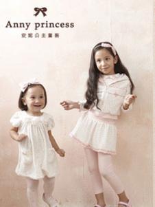 安妮公主童装白色甜美女裙