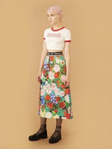chictopia女装印花长款半身裙
