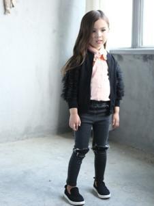 小猪班尼童装黑色休闲外套
