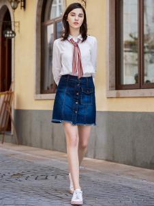 YOSUM衣诗漫秋冬时尚百搭修身职业女士白色衬衫