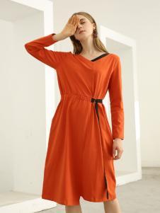 欧米媞女装新款秋冬新品不规则风衣女连帽驼色风衣