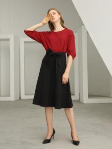 欧米媞女装新款秋冬新款女装气质修身中长款连衣裙时尚A字裙