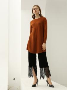 欧米媞女装新款秋冬中长款宽松时尚显瘦套头百搭毛衣