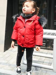 童衣汇童装女童红色外套