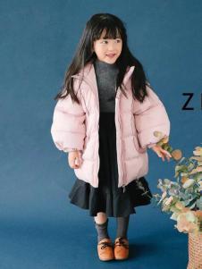 童衣汇童装女童粉色外套