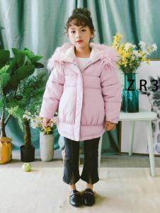 品牌折扣童衣汇女童粉色外套