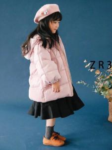 童衣汇童装女童粉色羽绒服