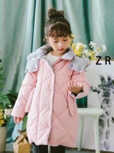 童衣汇童装女童粉色棉衣